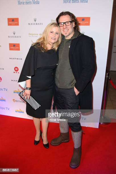 Michaela Schaffrath and her partner Carlos Anthonyoi attend the Movie Meets Media event 2017 at Hotel Atlantic Kempinski on November 27 2017 in...