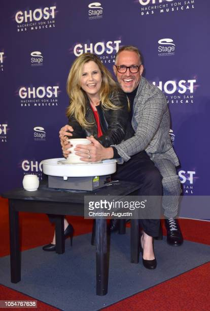 Michaela Schaffrath and Nik Breidenbach attend the premiere of the musical 'Ghost The Musical' at Stage Operettenhaus on October 28 2018 in Hamburg...
