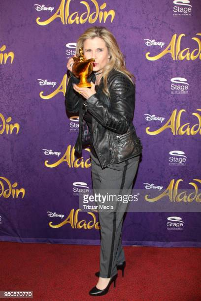 Michaela Schaffrath attends the Aladdin And Friends Charity Event on April 23 2018 in Hamburg Germany