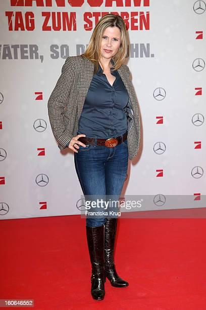 Michaela Schaffrath attends the German premiere of 'Die Hard Ein Guter Tag Zum Sterben' at the cinestar Potsdamer Platz on February 4 2013 in Berlin...