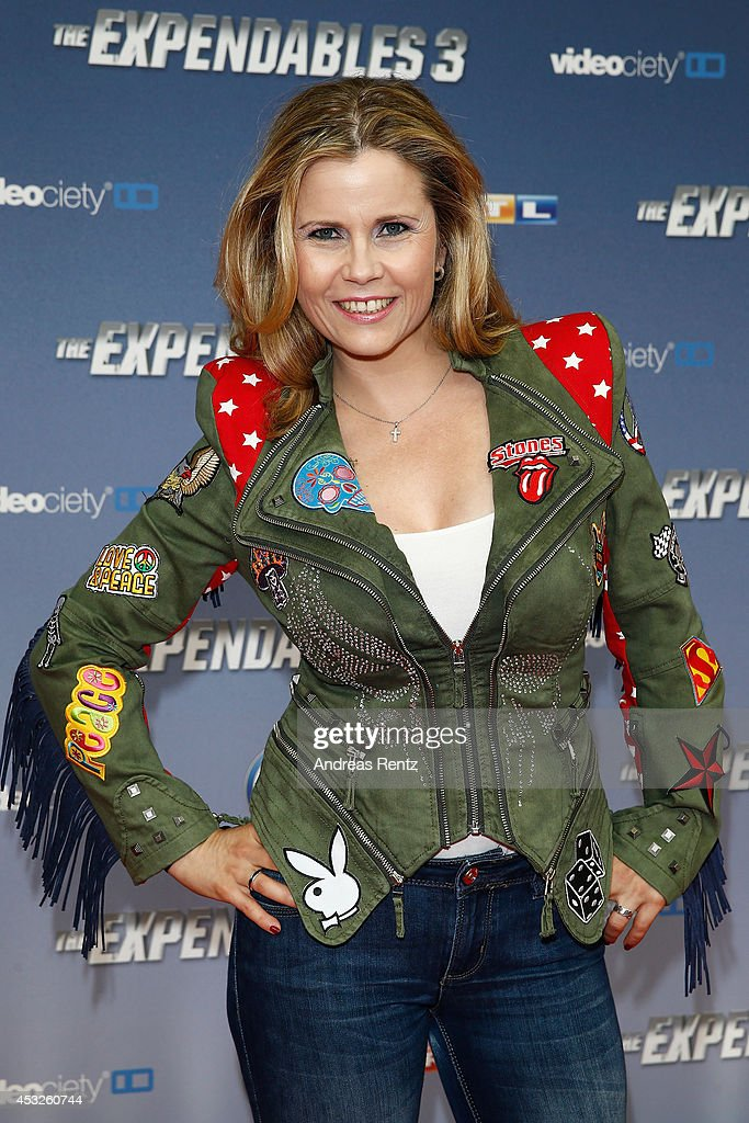Michaela Schaffrath attends the German premiere of the