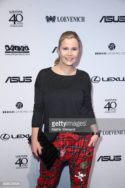 Michaela Schaffrath attends the Thomas Rath show during Platform Fashion January 2017 at Areal Boehler on January 29 2017 in Duesseldorf Germany