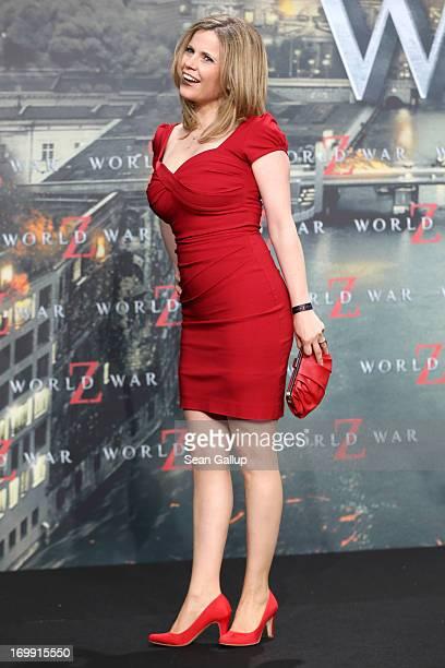 Michaela Schaffrath attends 'WORLD WAR Z' Germany Premiere at Sony Centre on June 4 2013 in Berlin Germany