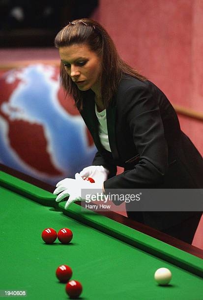 Michaela Tabb becomes the first female to referee at the World Snooker Championship in an opening round match between Drew Henry of Scotland and Mark...