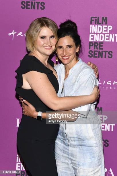 Michaela Watkins and Jillian Bell attend Film Independent presents special screening of Brittany Runs A Marathon at ArcLight Hollywood on August 14...