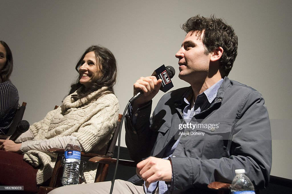 Michaela Watkins and Josh Radnor attend the Film Independent Directors Close-Up 2013 - The Actors: Getting Great Performances at Landmark Nuart Theatre on March 6, 2013 in Los Angeles, California.