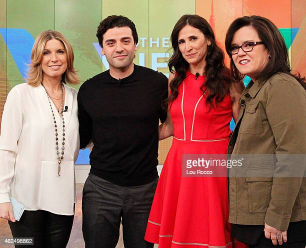 THE VIEW Michaela Watkins is the guest cohost and actor Oscar Isaac is a guest today Wednesday January 28 2015 on Walt Disney Television via Getty...