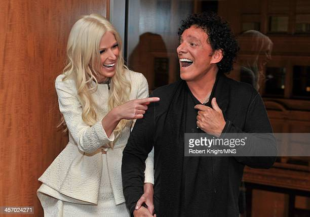Michaele Schon And Neal Schon attend the reherasal dinner the night before their wedding at the Four Seasons Hotel on December 14 2013 in San...