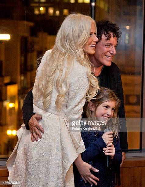 Michaele Schon Neal Schon and Lizzy Schon attend the reherasal dinner for the wedding of Michaele Schon and Neal Schon at the Four Seasons Hotel on...