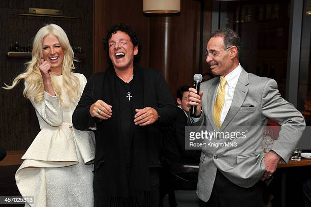 Michaele Schon Neal Schon and Mike Carabello attend the reherasal dinner for the wedding of Michaele Schon and Neal Schon at the Four Seasons Hotel...