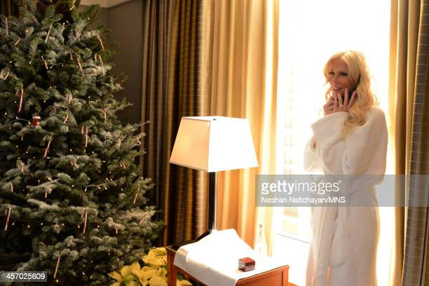 Michaele Schon prepares for her wedding at the Four Seasons Hotel on December 15 2013 in San Francisco California