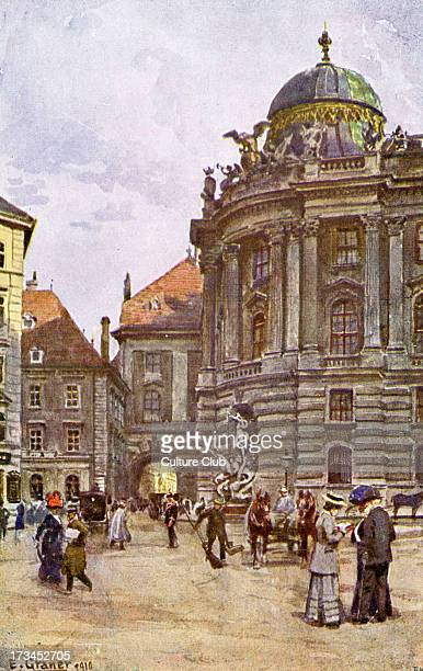 Michaelerplatz Vienna Austria Square next to St Michael 's Church By E Graner 1910