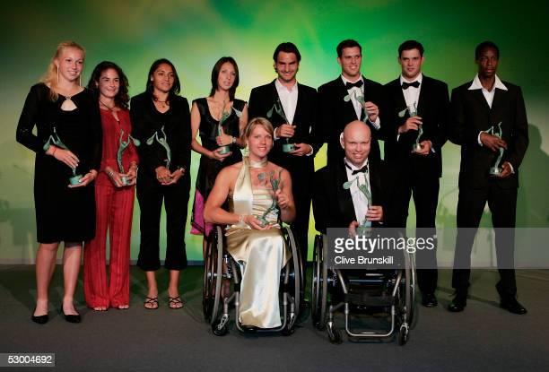Michaella Krajicek of Holland Ruano Pascal of Spain Paola Saurez of Argentina Anastasia Myskina of Russia Roger Federer of Switzerland Mike Bryan of...