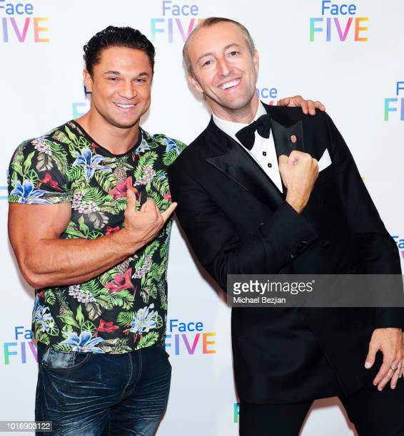 MichaelVitally Vernon and Prince MarioMax SchaumburgLippe attend Meet The New 'Friends' The Introduction of Face Five at The Royals on August 14 2018...