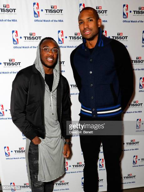 Michail Antonio and Al Horford attend The Tissot x NBA Launch Party at BEAT on January 10 2018 in London England