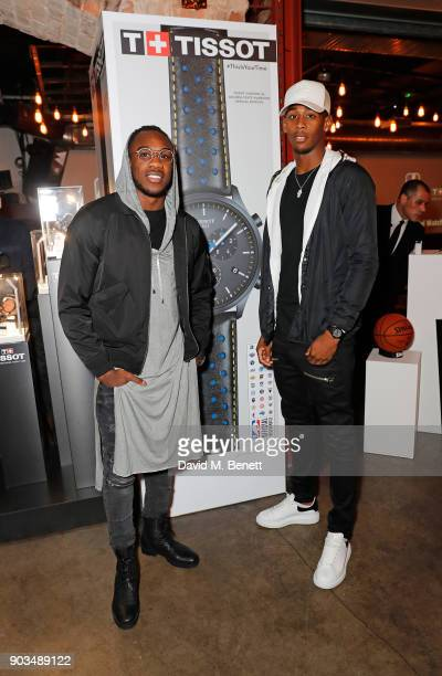 Michail Antonio and Reece Oxford attend The Tissot x NBA Launch Party at BEAT on January 10 2018 in London England