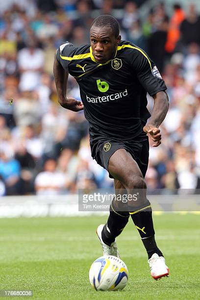 Michail Antonio of Sheffield Wednesday in action during the Sky Bet Championship match between Leeds United and Sheffield Wednesday at Elland Road on...
