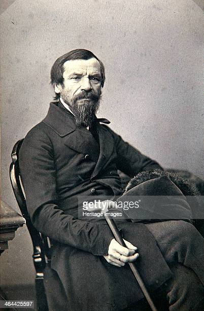 Michail Pogodin Russian historian and journalist 1850s Found in the collection of the State Museum of AS Pushkin Moscow
