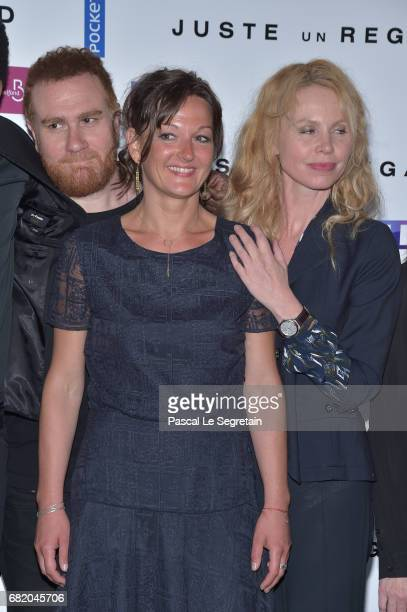 "Michal Abiteboul, Anne Girouard and guest attend the photocall for ""Juste un regard"" TV show at Cinema Gaumont Marignan on May 11, 2017 in Paris,..."