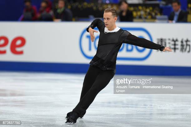 Michal Brezina of Czech Republic competes in the Men free skating during the ISU Grand Prix of Figure Skating at on November 11 2017 in Osaka Japan