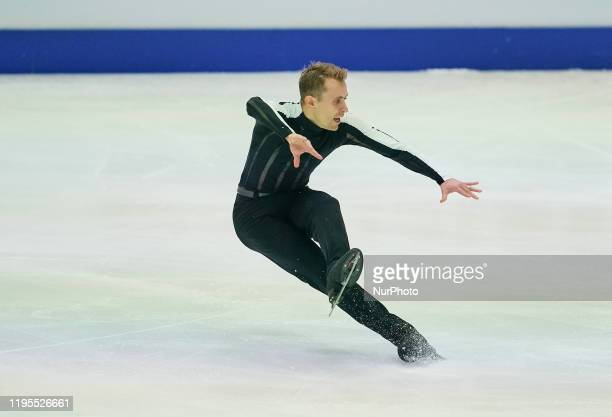 Michal Brezina of Czech Republic during Men Free Skating at ISU European Figure Skating Championships in Steiermarkhalle Graz Austria on January 24...