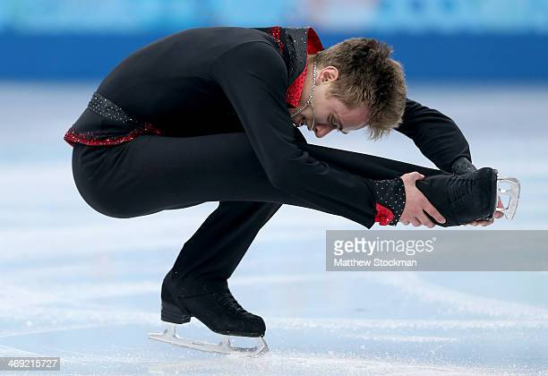 Michal Brezina of the Czech Republic competes during the Men's Figure Skating Short Program on day 6 of the Sochi 2014 Winter Olympics at the at...