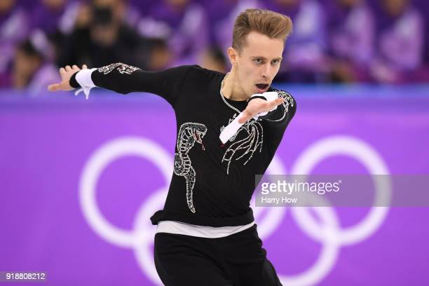 Michal Brezina of the Czech Republic competes during the Men's Single Skating Short Program at Gangneung Ice Arena on February 16 2018 in Gangneung...