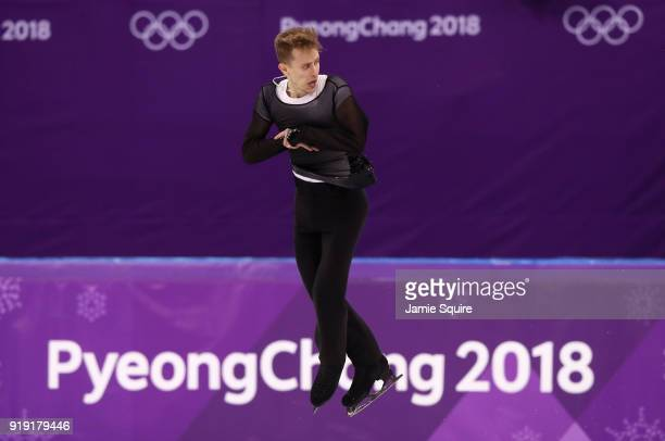 Michal Brezina of the Czech Republic competes during the Men's Single Free Program on day eight of the PyeongChang 2018 Winter Olympic Games at...