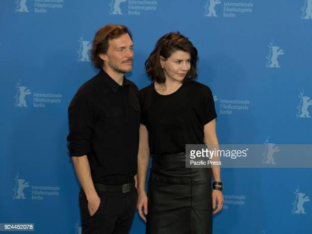 Michal Englert and Malgorzata Szumowska pose at the 'Mug' photo call during the 68th Berlinale International Film Festival Berlin at Grand Hyatt Hotel