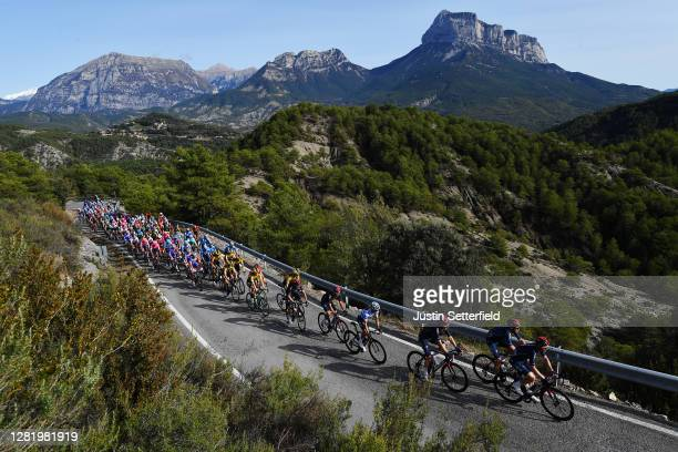 Michal Golas of Poland and Team INEOS - Grenadiers / Cameron Wurf of Australia and Team INEOS - Grenadiers / Dylan Van Baarle of The Netherlands and...