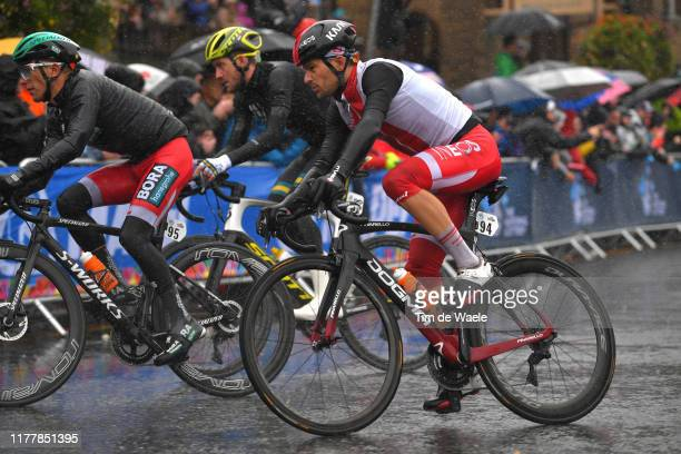 Michal Golas of Poland / during the 92nd UCI Road World Championships 2019 Men Elite Road Race a 2618km race from Leeds to Harrogate 125m / RR /...