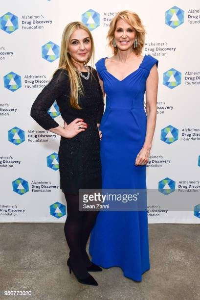 Michal Grayevsky and Paula Zahn attend Alzheimer's Drug Discovery Foundation 12th Annual Connoisseur's Dinner at Sotheby's on May 3 2018 in New York...