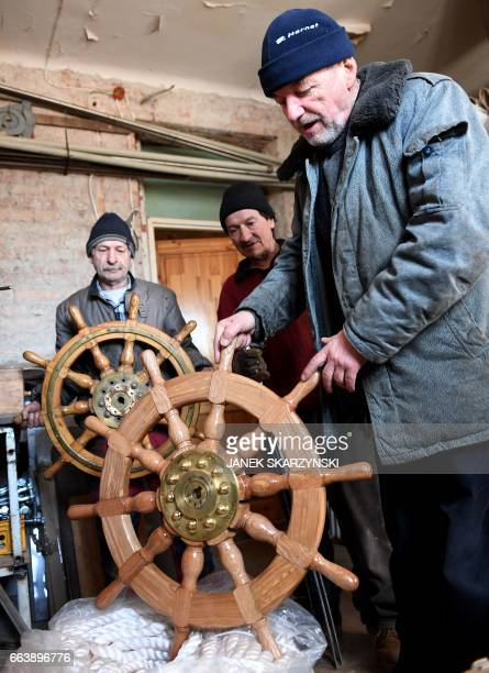 Ship Steering Wheel Stock Photos And Pictures