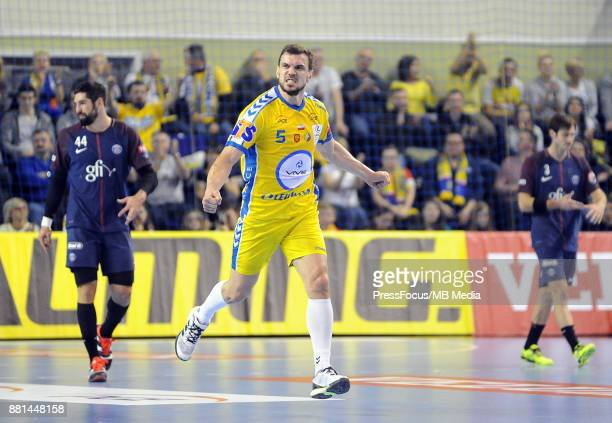 Michal Jurecki celebrate during the EHF Men's Champions League Game between PGE Vive Kielce and PSG Handball on November 26 2017 in Kielce Poland