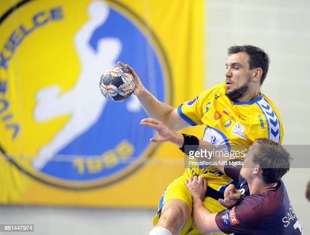 Michal Jurecki during the EHF Men's Champions League Game between PGE Vive Kielce and PSG Handball on November 26 2017 in Kielce Poland
