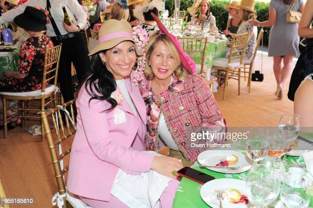 Michal Kadar and Liora Sternberg attend 36th Annual Frederick Law Olmsted Awards Luncheon Central Park Conservancy at The Conservatory Garden in...