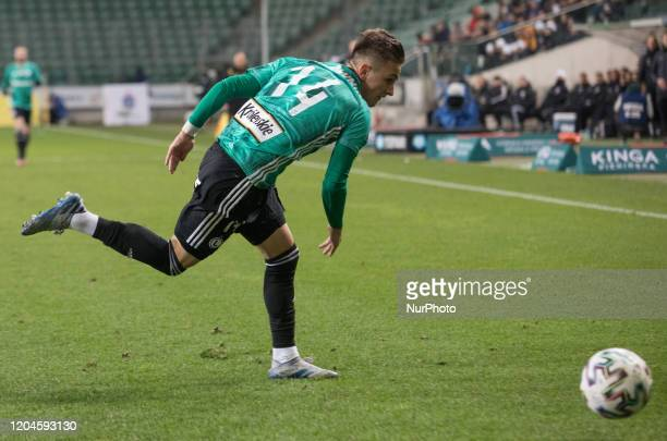 Michal Karbownik during the match between Legia Warsaw v Cracovia for the PKO Ekstraklasa in Warsaw Poland on February 29 2020