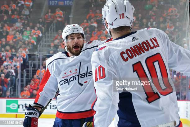 cf4cf6e12fb Michal Kempny and Brett Connolly of the Washington Capitals celebrate the  first goal of the game