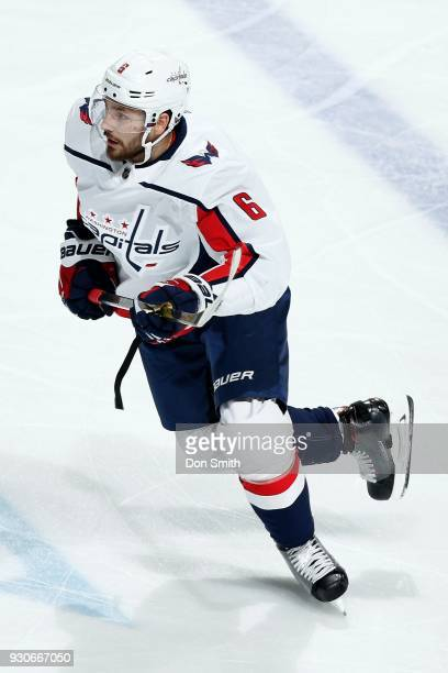 Michal Kempny of the Washington Capitols skates during a NHL game against the San Jose Sharks at SAP Center on March 10 2018 in San Jose California