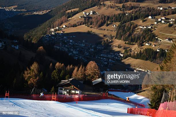 Michal Klusak of Poland competes in the FIS Alpine Skiing World Cup Men's Downhill on December 19 2015 in Val Gardena northern Italy AFP PHOTO /...