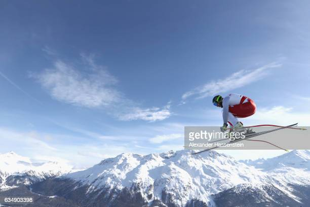 Michal Klusak of Poland competes in the Men's Downhill during the FIS Alpine World Ski Championships on February 12 2017 in St Moritz Switzerland