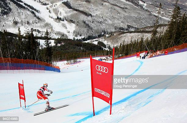 Michal Klusak of Poland descends the course in the Men's FIS Alpine World Cup Downhill on the Birds of Prey course on December 5 2009 in Beaver Creek...