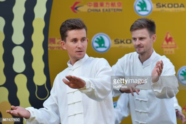 Michal KWIATKOWSKI and Michal GOLAS during Tai chi activity at the 1st TDF Shanghai Criterium 2017 Media Day On Saturday 28 October 2017 in Shanghai...