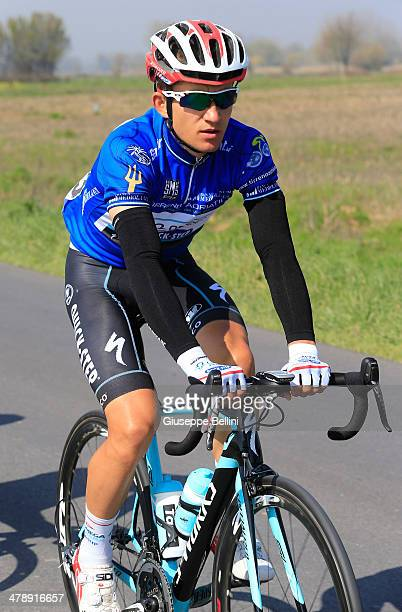 Michal Kwiatkowski of Omega PharmaQuick Step in action during stage four of the 2014 Tirreno Adriatico a 244 km stage from Arezzo to Cittareale on...