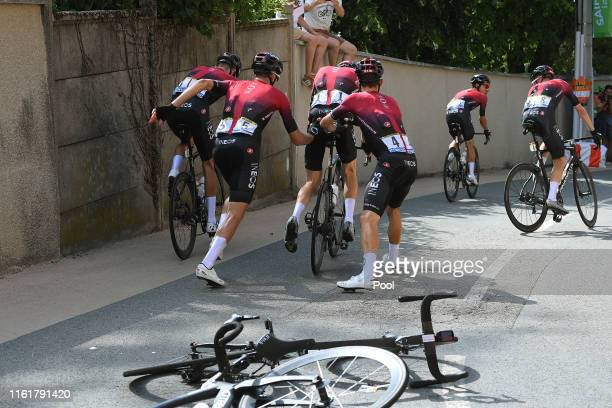 Michal Kwiatkowski of Poland and Team INEOS / Gianni Moscon of Italy and Team INEOS / Geraint Thomas of United Kingdom and Team INEOS / Dylan van...