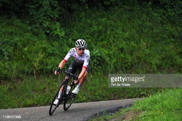 Michal Kwiatkowski of Poland and Team INEOS / Rain / during the 71st Criterium du Dauphine 2019 Stage 7 a 1335km stage from SaintGenixlesVillages to...