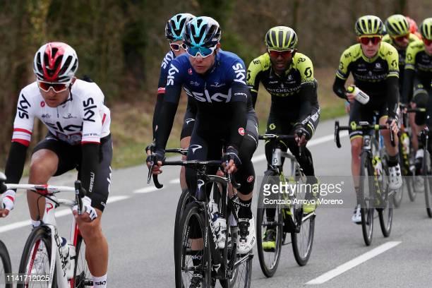 Michal Kwiatkowski of Poland and Team Sky / David De La Cruz of Spain and Team Sky / Tsgabu Grmay of Ethiopia and Team Mitchelton - Scott / during...
