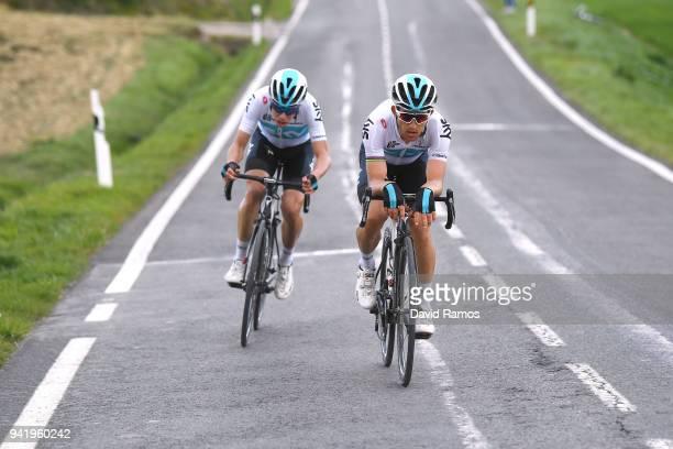 Michal Kwiatkowski of Poland and Team Sky / David de la Cruz of Spain and Team Sky / during the 58th Vuelta Pais Vasco 2018 Stage 3 a 1848km stage...