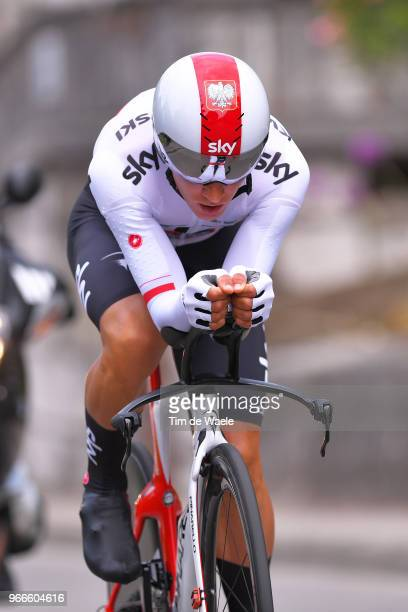 Michal Kwiatkowski of Poland and Team Sky / during the 70th Criterium du Dauphine 2018 Prologue a 66km individual time trial stage from Valence to...