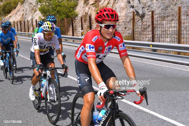 Michal Kwiatkowski of Poland and Team Sky Red Leader Jersey / Sergio Luis Henao Montoya of Colombia and Team Sky / during the 73rd Tour of Spain 2018...